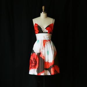 Burlapp blossom dress